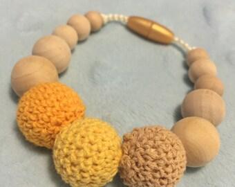 Yellow Teething and Nursing Bracelet