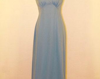 1960s Baby Blue Evening Dress