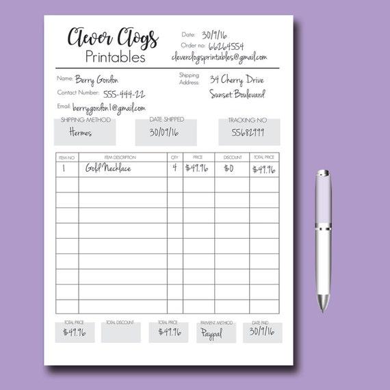 High Quality Custom Order Form, Business Organizer, Branded Staionery, Order Book, Craft  Fair, Craft Order Form, Etsy Shop Supplies, Craft Business, PDF Good Ideas