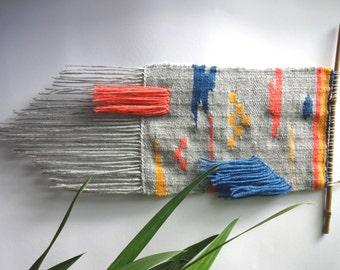 Wovenwallhanging, weave, woven, weaving, gewebter Wandteppich