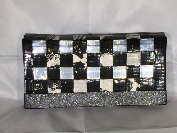 Cash Envelope System: Woven Wallet and Envelopes - Black, White, and B&W Flowers