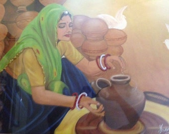 Indian Woman Potter
