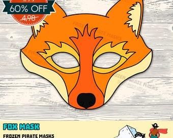 60% OFF SALE Fox Printable Mask