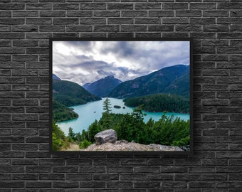 Mountain Lake Photography - Lake Landscape Photo - Nature Art - Nature Wall Decor - Mountain Landscape Wall Art - Nature Photography