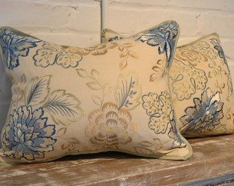 Colefax & Fowler Embroidered Floral Pillows