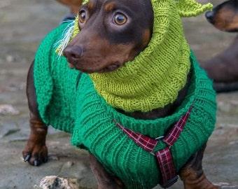Yoda dog snood