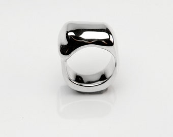 Statement ring Silver 925/ooo liquid