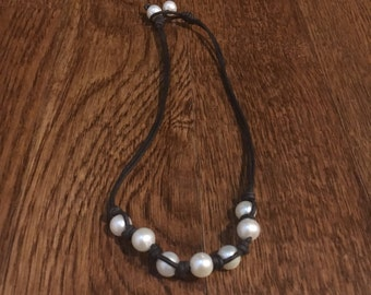 Wrapped Seven Pearl Necklace