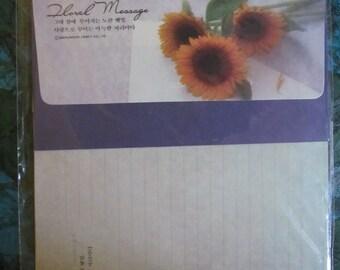 ASIAN STATIONARY 2 packets. 4 pages 2 envelopes each Letter Set*Snail Mail*Pen Pal* Scrapbook*Collage*Art Project* Smashbook* Floral Message