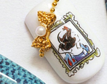 Snow white princess nail decals,waterslide