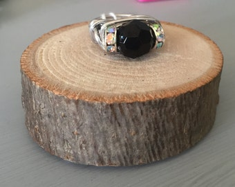 Black Middle Stone Ring