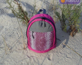"""Backpack """"Marine"""" pink-gray 10L"""