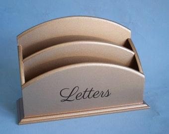 Rose Gold Letter Organizer, Mail Organizer, Letter Holder, Mail Holder