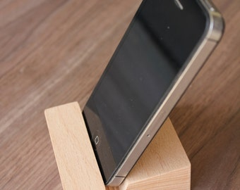 Solid beech wood Mobile phone stand