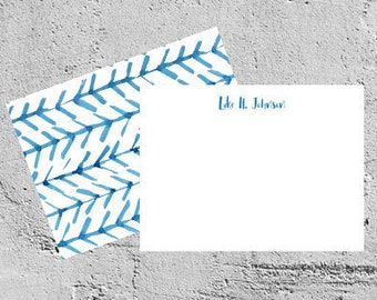 personalized correspondence   flat card   digital download