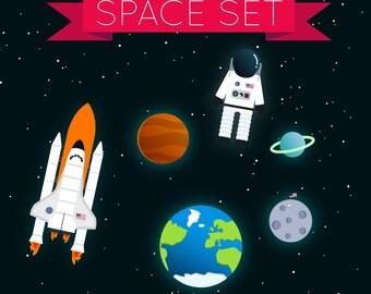 Space Set - Clip Art