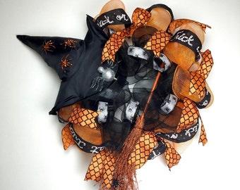 Halloween, Halloween Wreath, Halloween Witch, Halloween Witch Wreath, Halloween Door Wreath, Halloween Decoration