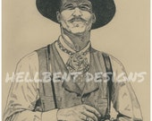 Original Art Print - Doc Holliday Painting, Val Kilmer, Tombstone, T.A. Schmitt, Artist