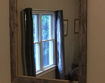 Reclaimed Barn Wood Mirror - Custom Made