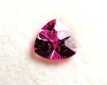 7mm Trillion Shaped Quantum Cut Lab Grown Pink Sapphire of 1.50 Carats
