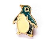 Enamel Pin PENGUIN PIN - Animal Pins, Enamel Brooch, Penguin Gift, Soft Enamel Pin, Kawaii Accessories, Pins for Jackets, Enamel Lapel Pin