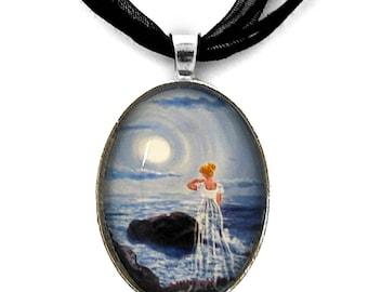 Annabel Lee Victorian Poe Ghost Gothic  Haunted Cliff Handmade Jewelry Dark Art