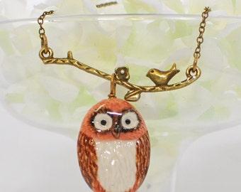 Owl Pendant Necklace - Whoo Mi Owl Jewelry - Owl Necklace - Bird Jewelry