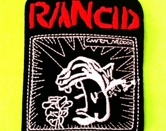 Rancid Give Em The Boot Tim Armstrong Lars Frederiksen Hellcat Records Mohawk Guy Iron or Sew On Patch