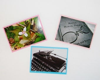 Stationery set, 3 photo cards, original photographs acid free blank cards Select 3 snail mail correspondence Nice touch for handmade charm
