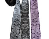 Wormhole Printed Necktie. Op Art geometric pattern silkscreen tie. Psychedelic optical illusion print. Your choice of colors and width.