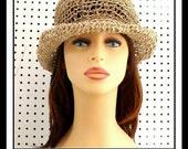Crochet Pattern Hat, Crochet Sun Hat Pattern for Women, Womens Crochet Hat Pattern, MONCHERIE Wide Brim Hat for Women, Floppy Hat