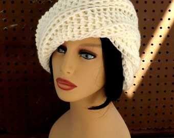 Womens Crochet Hat,  Womens Hat,  Crochet Beanie Hat,  Ivory Hat,  African Hat,  Ombretta Beanie Hat Women