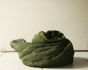 LINEN SCARF / linen shawl / flax scarf / handmade in australia / pamelatang