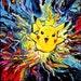 Pikachu Pokemon Art - Starry Night Giclee print van Gogh Never Caught Them All by Aja 8x8, 10x10, 12x12, 20x20, and 24x24 choose size