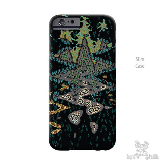 iPhone 7 case, Black and Green, iPhone 6s Case, iPhone 8 plus case,  Art, black iPhone case, iPhone 5S case, iphone 8 case, Galaxy S7 Case