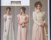 Butterick 6074 Misses Women's Regency Jane Austen Dress Spencer Jacket UNCUT
