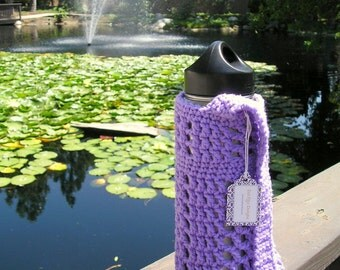 Lavender Water Bottle Carrier