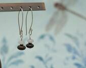 SALE- Bronzite and Rose Quartz Earrings