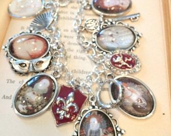 Queen Elizabeth Charm Bracelet, Queen Charm Bracelet, Queen Elizabeth, Queen Elizabeth Bracelet, Charm Bracelet, Silver Charm Bracelet