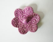 One Ring Holder, Ring Dish, Ring Bowl, Violet Pink, Ready to ship