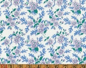 Vintage Feedsack Fabric - Purple & Blue Floral - Flour Sack/Feedsack Quilting Cotton 40s 30s
