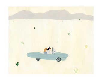 Thelma and Louise Print 10x12