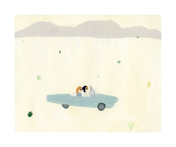 Thelma and Louise Print 8x10