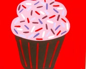 Sprinkled / original painting / cupcake / 4829