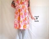 Favorite Dress -- floral -- plus size, 32W, super plus, 5X -- fit and flare, vintage cotton flower prints  -- 67B-57highW-80+H