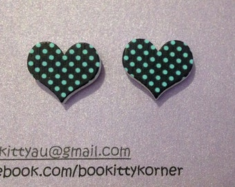 For the Love of Polka* 16mm Stud Earrings with Stainless Steel Findings
