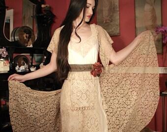Festival Boho Havisham Antique Lace Dress by Boudoir Queen