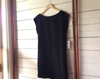 Oversized Linen Minimalist Shift Dress - sewn to order