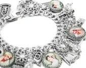 Bride Charm Bracelet, Bridal Jewelry, Wedding Bracelet, Gifts for the Bride, Vintage Bridal Images