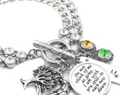 Memorial Bracelet, Personalized Memory Jewelry, Memorial Quote Jewelry, Loss of Mother, Grandmother, Father, Son, Daughter